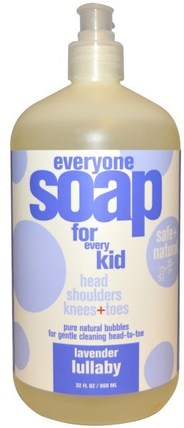 Everyone Soap for Every Kid, Lavender Lullaby, 32 fl oz (960 ml) by EO Products, 洗澡,美容,頭髮,頭皮,洗髮水,護髮素,兒童洗髮水 HK 香港