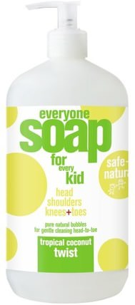 Everyone Soap for Every Kid, Tropical Coconut Twist, 32 fl oz (946 ml) by EO Products, 沐浴,美容,沐浴露,嬰兒及兒童產品 HK 香港