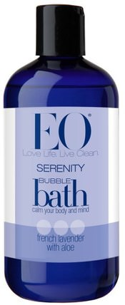 Serenity Bubble Bath, French Lavender with Aloe, 12 fl oz (355 ml) by EO Products, 洗澡,美容,泡泡浴 HK 香港
