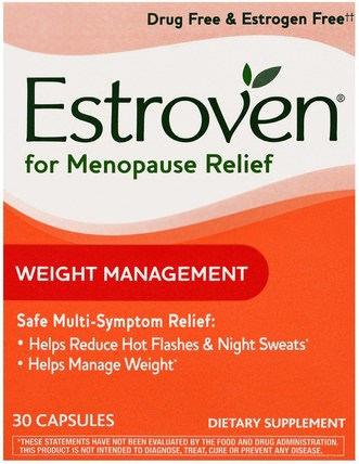 Menopause Relief, Weight Management, 30 Capsules by Estroven, 健康,女性,更年期 HK 香港