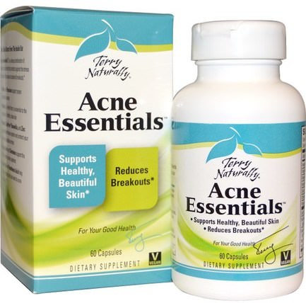 Terry Naturally, Acne Essentials, 60 Capsules by EuroPharma, 健康,痤瘡 HK 香港