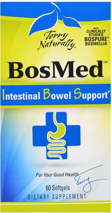 Terry Naturally, BosMed Intestinal Bowel Support, 60 Softgels by EuroPharma, 健康,便秘 HK 香港