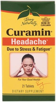 Terry Naturally, Curamin, Headache, 21 Tablets by EuroPharma, 健康 HK 香港