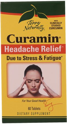Terry Naturally, Curamin, Headache Relief, 60 Tablets by EuroPharma, 健康 HK 香港