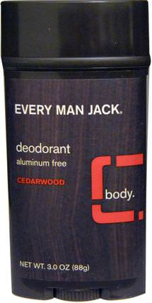 Deodorant, Cedarwood, 3.0 oz (88 g) by Every Man Jack, 洗澡,美容,除臭劑 HK 香港