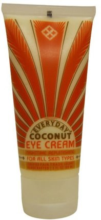 Eye Cream, For All Skin Types, Nightime Replenishing, 3 fl oz (88 ml) by Everyday Coconut, 美容,眼霜,面部護理,皮膚 HK 香港
