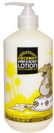 Hair & Body Lotion, Gentle for Babies & Up, Coconut Chamomile, 16 fl oz (475 ml) by Everyday Coconut, 洗澡,美容,潤膚露,嬰兒潤膚露 HK 香港