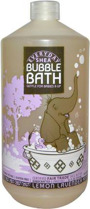 Bubble Bath, Gentle For Babies And Up, Lemon Lavender, 32 fl oz (950 ml) by Everyday Shea, 兒童健康,兒童洗澡,泡泡浴,兒童泡泡浴 HK 香港
