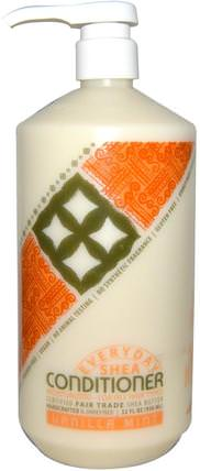 Moisturizing Conditioner, Vanilla Mint, 32 fl oz (950 ml) by Everyday Shea, 洗澡,美容,頭髮,頭皮,洗髮水,護髮素,護髮素 HK 香港