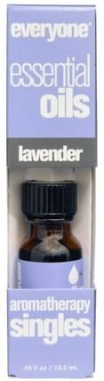 Everyone, Essential Oils, Aromatherapy Singles, Lavender.45 fl oz (13.3 ml) 沐浴,美容,香薰精油,薰衣草精油