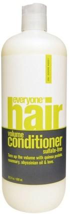 Everyone, Hair Volume Conditioner, Sulfate-Free, 20.3 fl oz (600 ml) 洗澡,美容,頭髮,頭皮,洗髮水,護髮素,護髮素