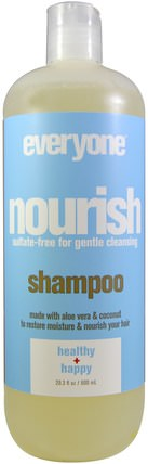 Nourish, Shampoo, Health + Happy, 20.3 fl oz (600 ml) by Everyone, 洗澡,美容,頭髮,頭皮,洗髮水,護髮素 HK 香港