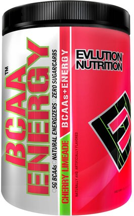 BCAA Energy, Cherry Limeade, 9.9 oz (282 g) by EVLution Nutrition, 補充劑,氨基酸,bcaa(支鏈氨基酸),運動,運動 HK 香港