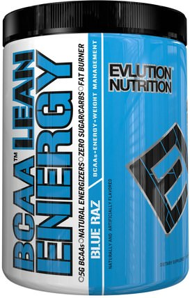 BCAA Lean Energy, Blue Raz, 11.2 oz (318 g) by EVLution Nutrition, 健康,能量,運動 HK 香港
