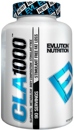 CLA 1000, 90 Softgels by EVLution Nutrition, 減肥,飲食,cla(共軛亞油酸),cla HK 香港