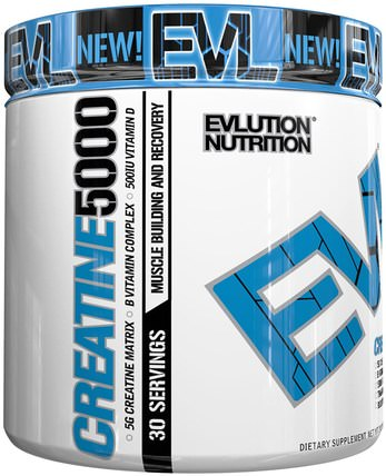 Creatine5000, 5.3 oz (153 g) by EVLution Nutrition, 運動,肌酸粉,運動 HK 香港