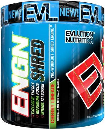 EVLution Nutrition, ENGN Shred, Cherry Limeade Pre-Workout, 8.1 oz (231 g) 健康,能量,運動