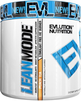 Lean Mode, Peach Tea, 5.4 oz (267 g) by EVLution Nutrition, 減肥,飲食,脂肪燃燒器 HK 香港