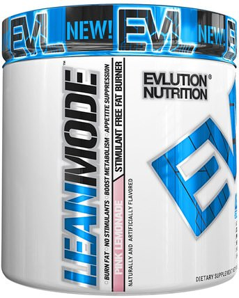 LeanMode, Pink Lemonade, 6.1 oz (174 g) by EVLution Nutrition, 運動,減肥,飲食,脂肪燃燒器 HK 香港