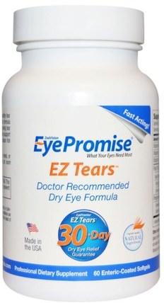 EyePromise, EZ Tears, 60 Enteric-Coated Softgels 健康,眼保健,視力保健,視力