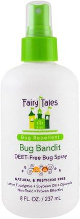 Bug Bandit, Deet- Free Bug Spray, 8 oz (237 ml) by Fairy Tales, 家,蟲子和驅蚊劑,沐浴,美容 HK 香港