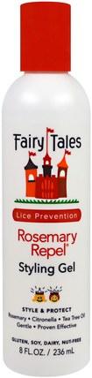 Fairy Tales, Rosemary Repel, Styling Gel, 8 fl oz (236 ml) 洗澡,美容,頭髮,頭皮,健康