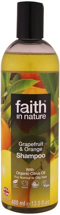 Shampoo, For Normal To Oily Hair, Grapefruit & Orange, 13.5 fl oz (400 ml) by Faith in Nature, 洗澡,美容,頭髮,頭皮 HK 香港
