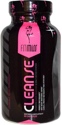 FitMiss, Cleanse, Womens Quick Cleanse & Daily Detox System, 60 Capsules 運動,女性運動產品,女性