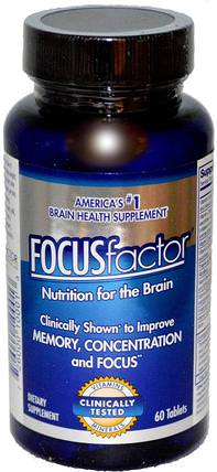 Nutrition For The Brain, 60 Tablets by Focus Factor, 健康,注意力缺陷障礙,添加,adhd,腦,長春西汀,記憶 HK 香港