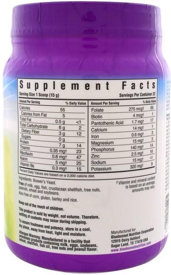 食品,烘焙助劑,啤酒酵母 - Bluebonnet Nutrition, Super Earth Brewers Yeast Flakes, 1.16 oz (330 g)