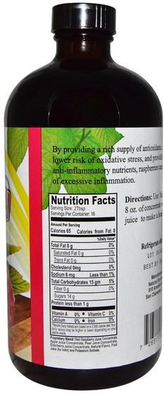 食品,咖啡茶和飲料,果汁 - Natural Sources, Raspberry Drink Concentrate, Naturally Sweetened, 16 fl oz (480 ml)