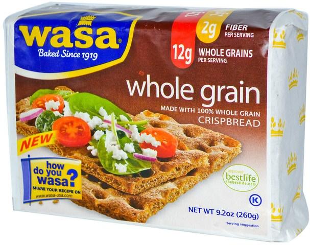 食物,餅乾和麵包棒 - Wasa Flatbread, Crispbread, Whole Grain, 9.2 oz (260 g)