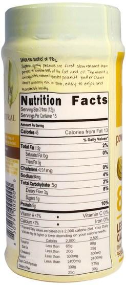 食品,花生醬,鐘形種植園pb2粉狀花生醬 - Bell Plantation, PB2, Powdered Peanut Butter, 6.5 oz (184 g)