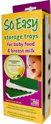 So Easy Storage Trays, For Baby Food and Breast Milk, 2 Trays With Lids by Fresh Baby, 家庭,廚具,食品儲存器和容器,兒童健康,嬰兒餵養和清潔 HK 香港