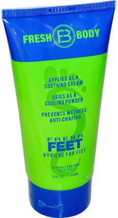 Fresh Body, Fresh Feet, 5 fl oz (148 ml) 美容,面部護理,麥盧卡蜂蜜護膚,沐浴,霜足