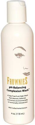 Frownies, pH-Balancing Complexion Wash, 4 oz (118 ml) 美容,面部護理,洗面奶