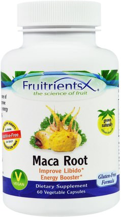 Maca Root, 60 Veggie Caps by Fruitrients, 補充劑,adaptogen,男性,瑪卡 HK 香港