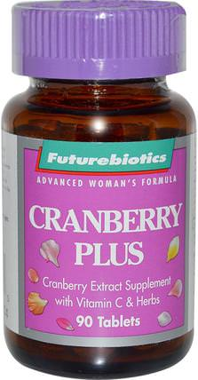 Cranberry Plus, 90 Tablets by FutureBiotics, 草藥,蔓越莓 HK 香港