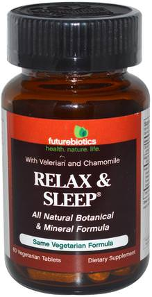 Relax & Sleep, 60 Veggie Tabs by FutureBiotics, 補品,睡眠,洋甘菊 HK 香港
