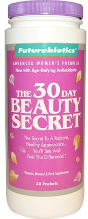 The 30 Day Beauty Secret, 30 Packets by FutureBiotics, 健康,女性,美容,指甲健康 HK 香港