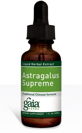 Astragalus Supreme, 1 fl oz (30 ml) by Gaia Herbs, 補充劑,adaptogen,感冒和病毒,黃芪液體 HK 香港