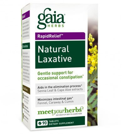 Rapid Relief, Natural Laxative, 90 Tablets by Gaia Herbs, 健康,便秘,消化,胃 HK 香港