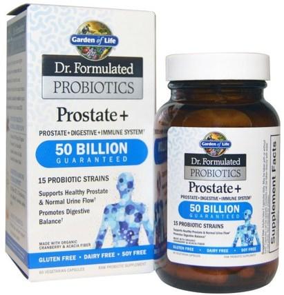 Garden of Life, Dr. Formulated Probiotics, Prostate +, 60 Veggie Caps (Ice) 健康,男性,前列腺,補品,益生菌