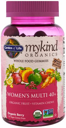 Mykind Organics, Womens Multi 40+, Organic Berry, 120 Gummy Drops by Garden of Life, 維生素,女性多種維生素 HK 香港