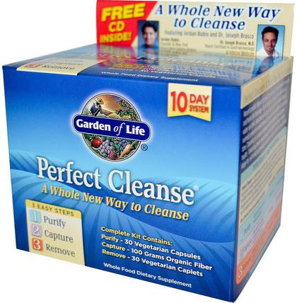 Perfect Cleanse, 3 Easy Steps Kit by Garden of Life, 健康,排毒,結腸健康 HK 香港