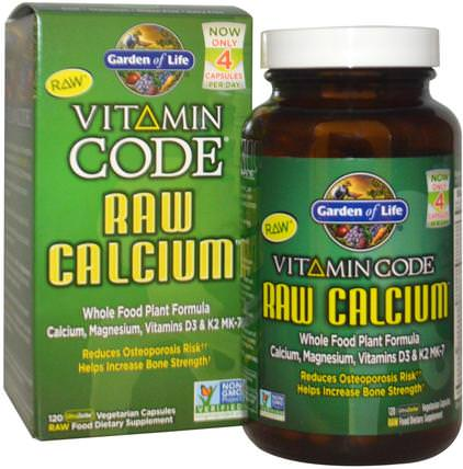 Vitamin Code, Raw Calcium, 120 UltraZorbe Vegetarian Capsules by Garden of Life, 補品,礦物質,鈣 HK 香港