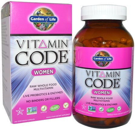 Vitamin Code, Women, Raw Whole Food Multivitamin, 240 Veggie Caps by Garden of Life, 維生素,女性多種維生素 HK 香港