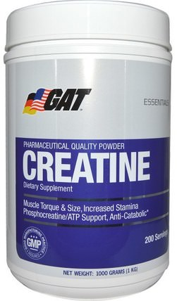 Creatine, 1000 g Powder by GAT, 運動,肌酸粉,肌肉 HK 香港