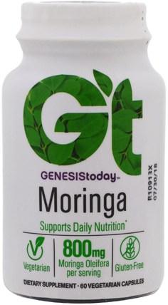 Genesis Today, Moringa, 800 mg, 60 Veggie Caps 草藥,辣木膠囊