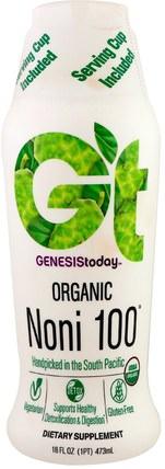Genesis Today, Organic Noni 100, 16 fl oz (473 ml) 食物,飲料